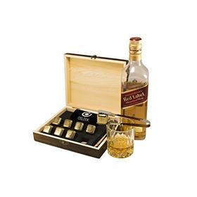 Whisky Stones - Juego De 8 Acero Inoxidable Chapado En Oro D