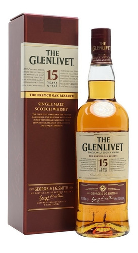 whisky the glenlivet 15 años (lbotella) 750 % original