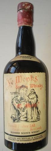 whisky ye monks botellón antiguo 1 lt. (anterior 1970) vacio