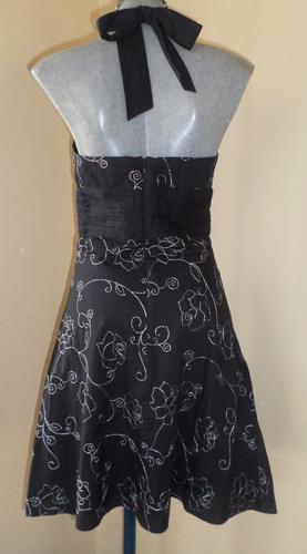 white house /black market vestido bordado talla extra chica