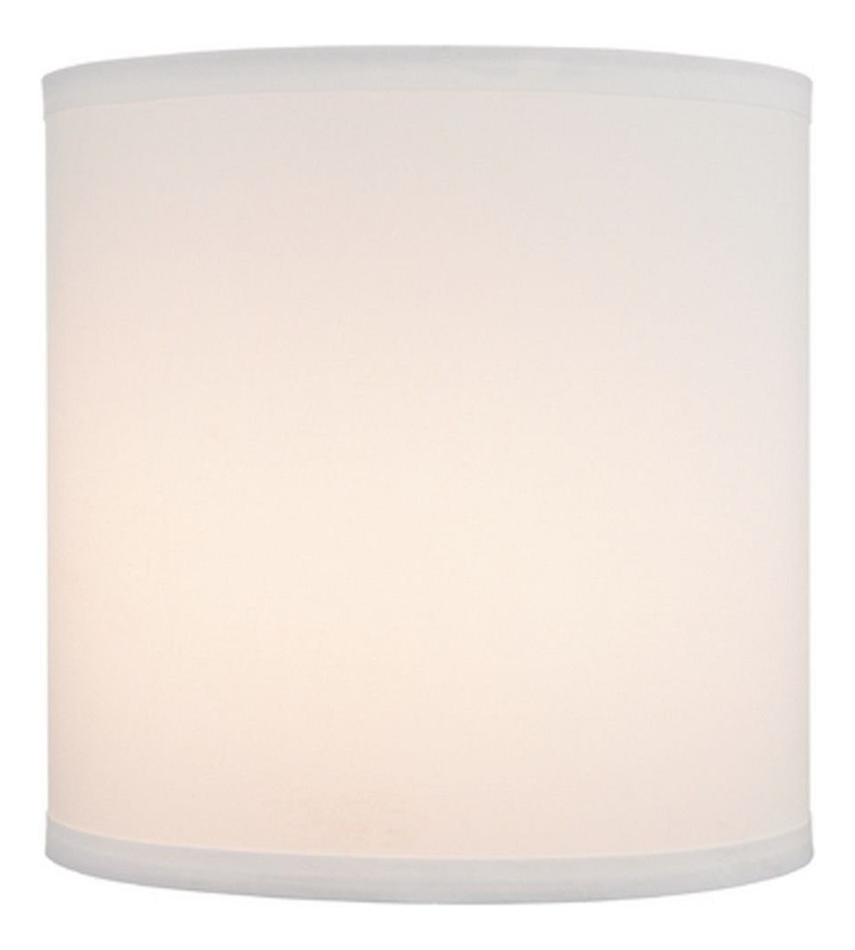 White Linen Drum Lamp Shade With Spider