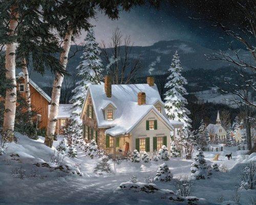 white mountain puzzles friends in winter - puzzle de 1000 pi
