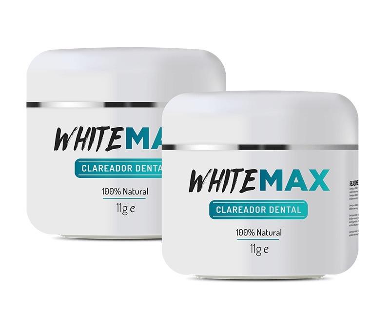 Whitemax Clareador Dental 100 Natural 1 Potes R 97 00 Em