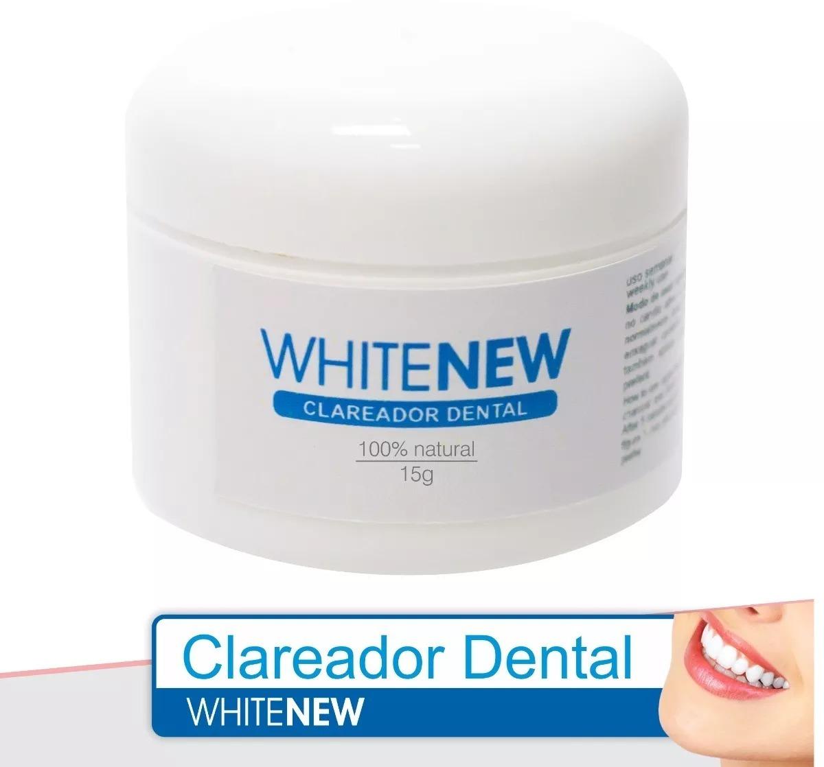 Whitenew 15g Clareador Dental 100 Natural Em Po Bambu R 24 99