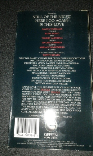 whitesnake trilogy. vhs