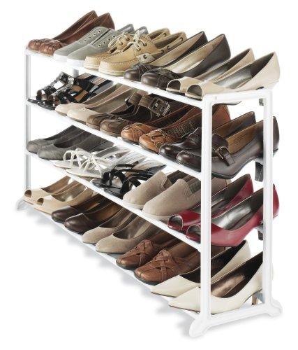 whitmor 20 pares de zapatos perchero de pie, blanco...