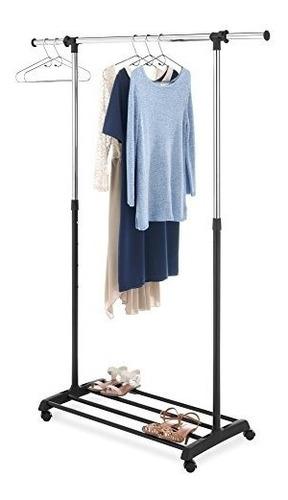 whitmor perchero de lujo para ropa color regulable cromado y