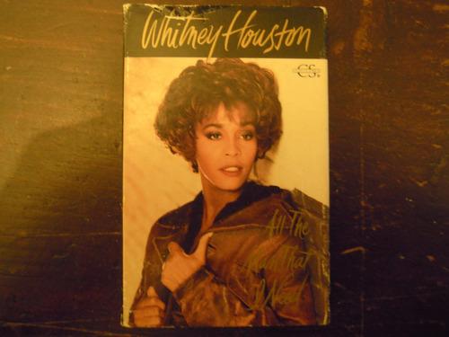 whitney houston casette single  all the man that i need impo