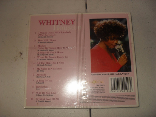 whitney houston live a song for you cd nuevo sellado