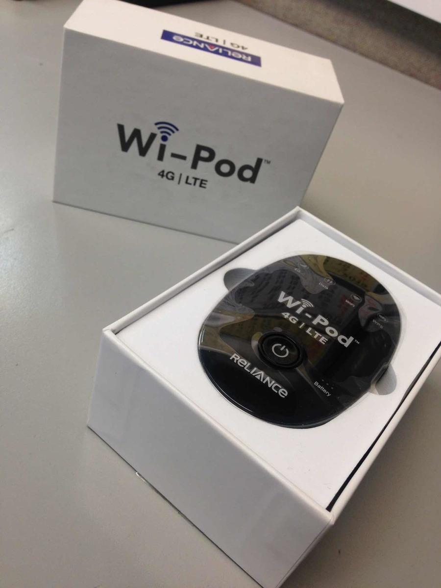 Wi- Pod Reliance 4g Lte Multibam Hotspot Router Zettabyte