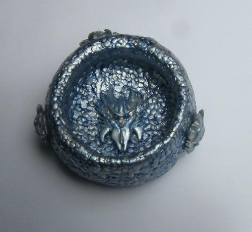 wicca,ojo dragon azul, cajita, celta envio gratis