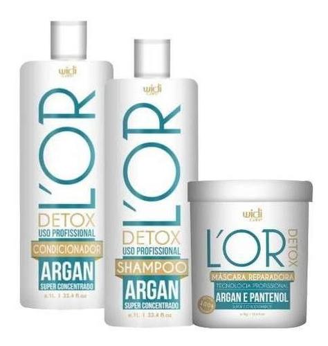 widi care lor detox shampoo + condicionador + mascara 1kg
