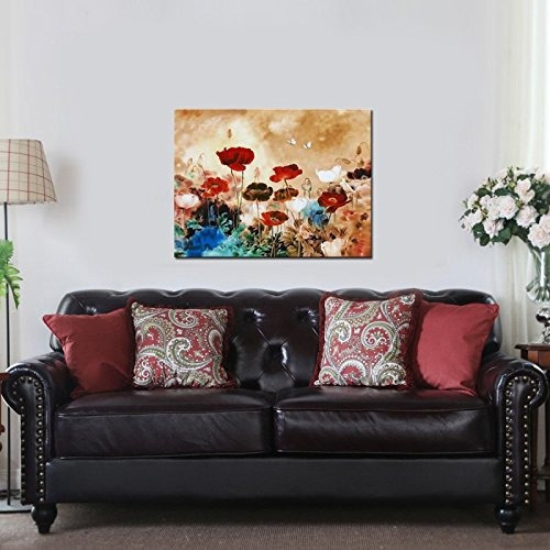 wieco art floración amapolas moderno giclee impresiones de l