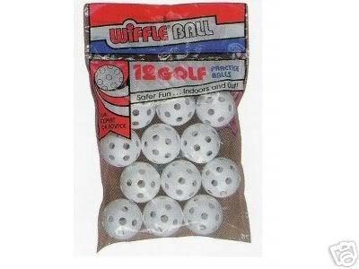 wiffle plástico pelota de golf-dz (dzn)