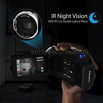 wifi 4k hd 48mp noche vista cámara de vídeo digital cámara