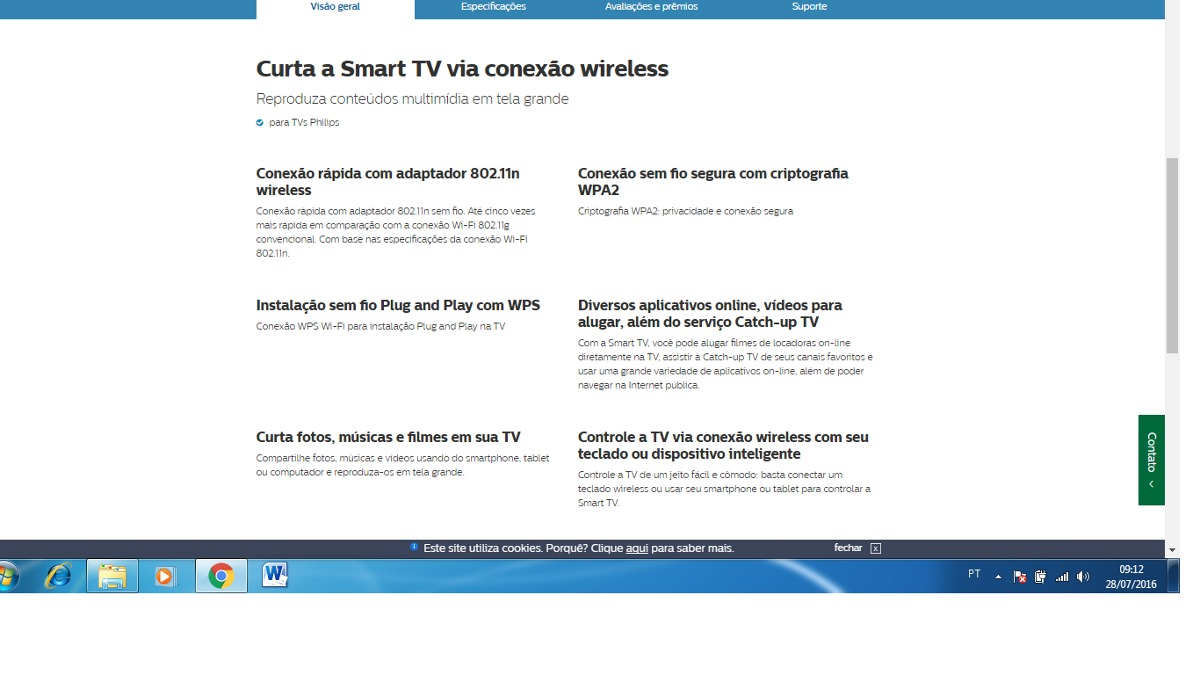 cfc787bb9659b Wifi Adaptador Na Tv Ou Computador - R  49