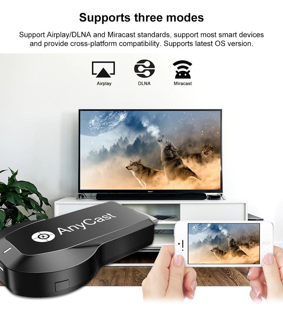 Wifi Hdmi Dlna Airplay Dongle Anycast - Sua Tv Uma Smart Tv! - R  69 ... 42e196cc931ce