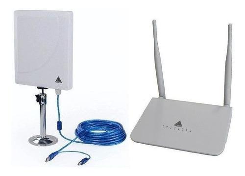 wifisky antena  usb + radio integrados 500mw  18dbi, 5.8ghz.