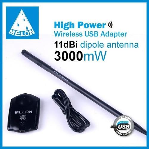 wifisky usb 3000mw ralink rt3070 antena 11dbi 150mps 2km