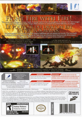 wii   dragon blade   nuevo  envio gratis
