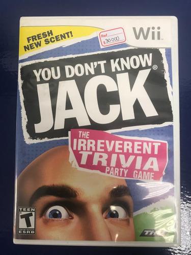 wii fisico you don´t know jack - usado