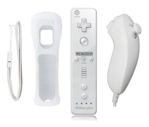 wii remote motion plus + silicon + nunchuck * nuevo * exprss