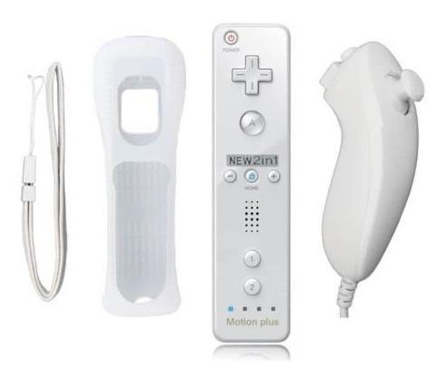 wii remote motion plus + silicon + nunchuck  nuevo sellado