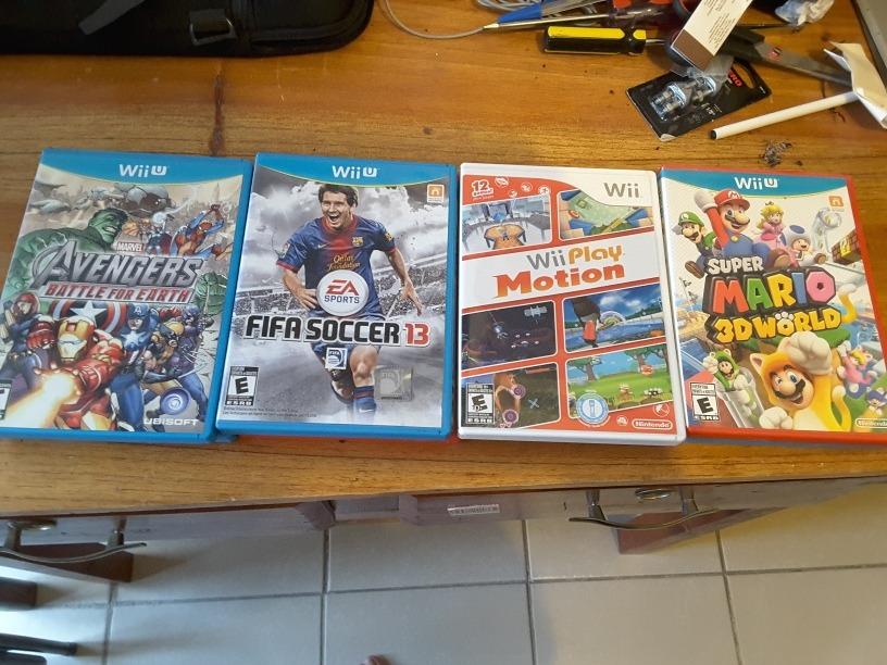 Wii U Incluye Game Pad Controles Y 12 Juegos 9 500 00 En