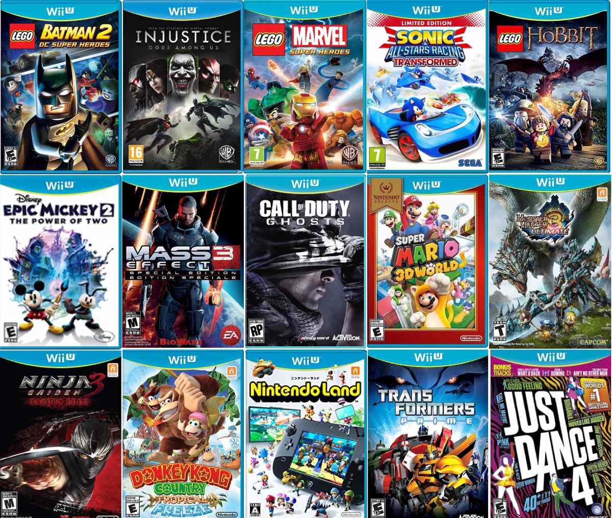 Wii U Juegos Mario Bros, Call Of Duty - $ 550.00 en ...  Wii U Juegos Ma...