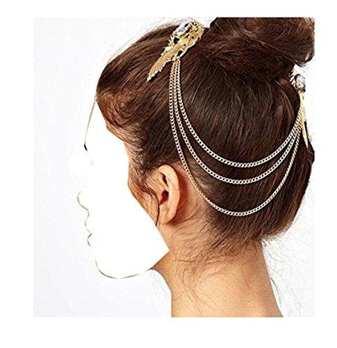 wiipu elegante cristal de oro de ala de pelo pun ¢ o de la