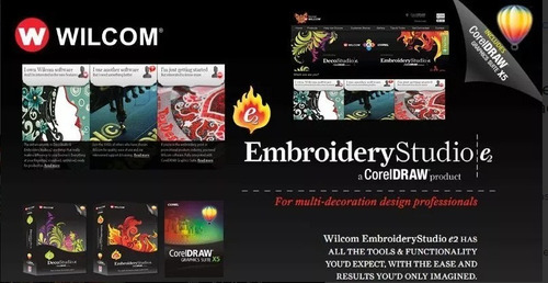 wilcom embroidery studio e2, con video, guia + pack matrices