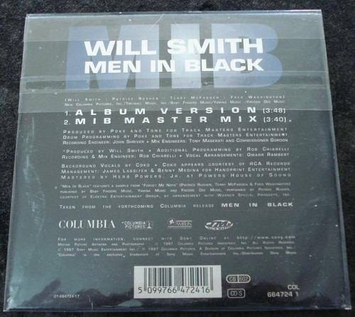 will smith - cd - men in black - cd single importado !!!