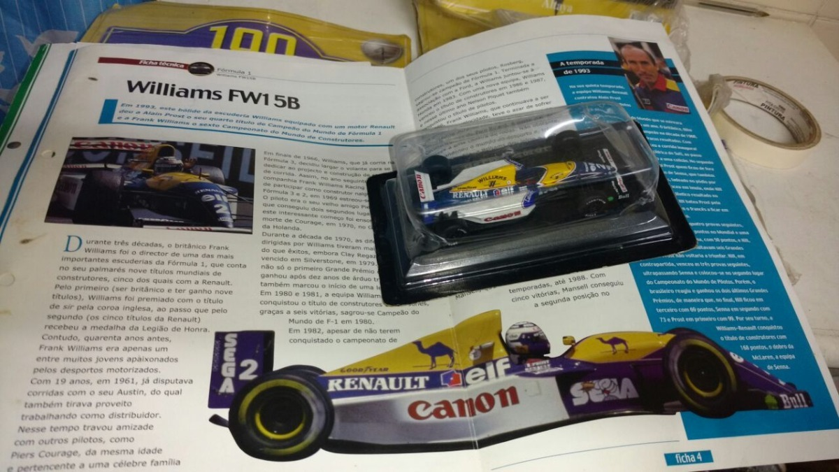 7982a96c0fb2 Williams Fw15b 1993 Alain Prost Fórmula 1 F1 Com Revista - R  120