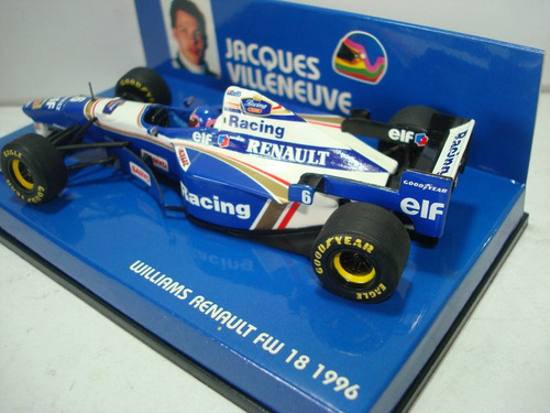 williams fw18 villeneuve 1996 f1 minichamps 1.43 unico!