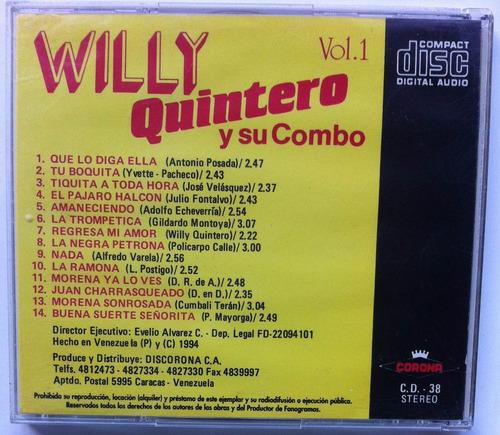 willy quintero y su combo. vol. 1. cd original, buen estado