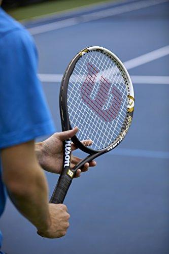 wilson hyper hammer 5.3 raqueta de tenis strung (negro / bla