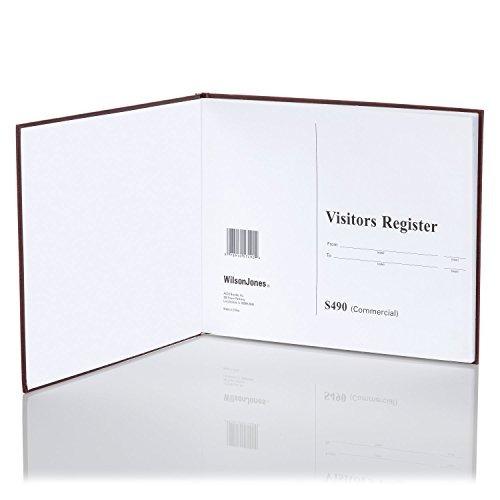 wilson jones registro de visitantes libro, 81/2-inch x 111