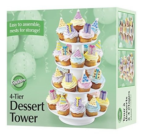 wilton 4tier stacked cupcake and dessert tower