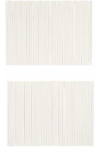 wilton palos de paleta de 15 cm, 100 unidades, color blanco.