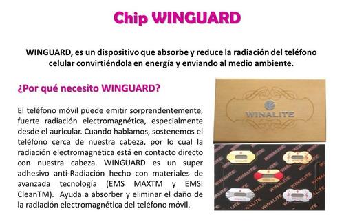 winalite caja 5 chip antirradiacion winguard para celulares