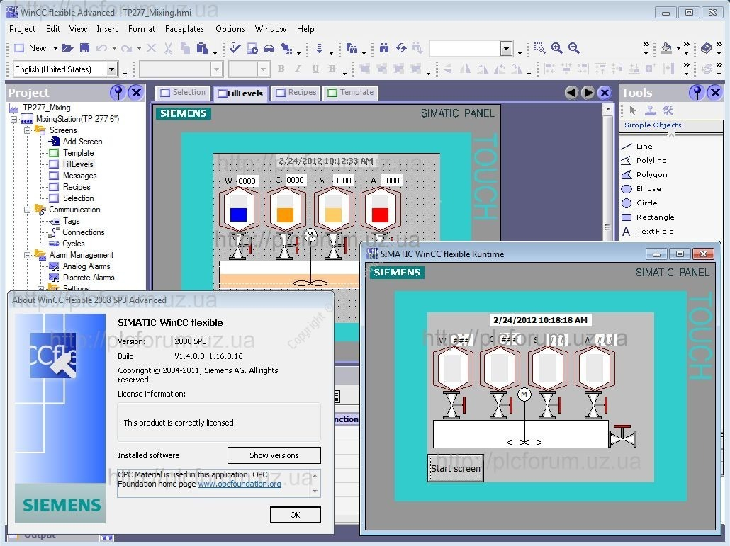 simatic wincc flexible 2008