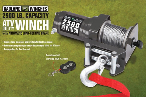 winch electrico 2500 lbs atv buggy raptor rzr tractor jalon