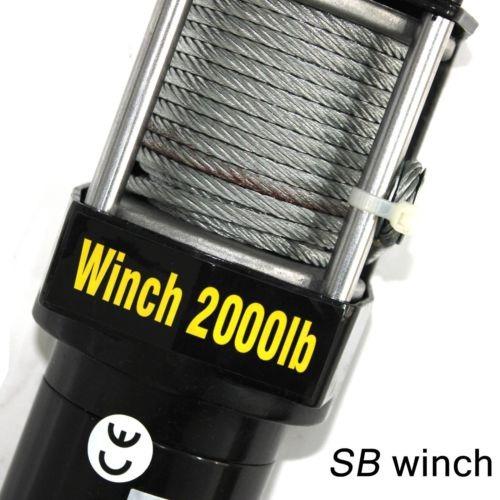 winch off-road p/ cuatrimoto 12v dc 2000lb stark 25090