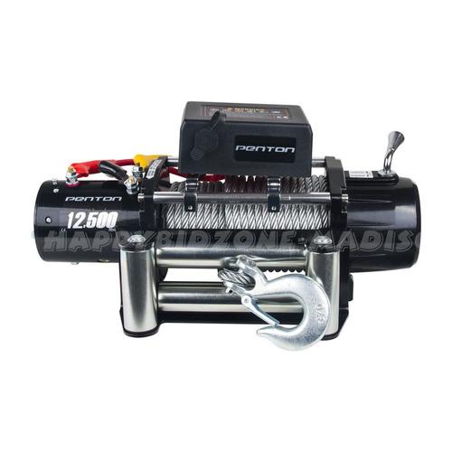 winche clásico de 12500lbs y 12v con control remoto