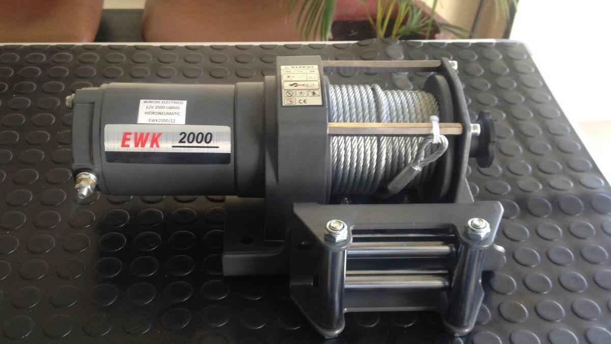 Winche Electrico 24/12 V Runva Winch 2000 Libras