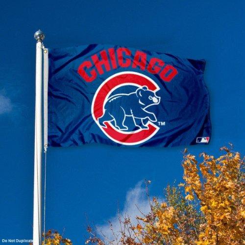 Chicago Cubs Logo 3x5 Banner Flag