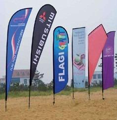 wind banner fly banner banderas pétalo completos