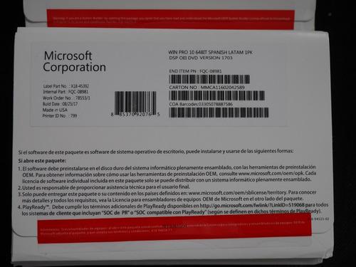 windows 10 pro 32/64 bits licencia digital original esd