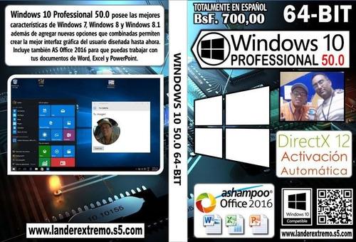 windows 10 pro 50.0 64 bit dvd