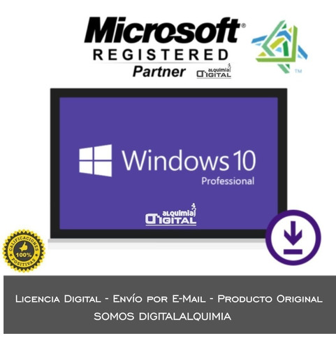 windows 10 pro / licencia / notebook o pc / original
